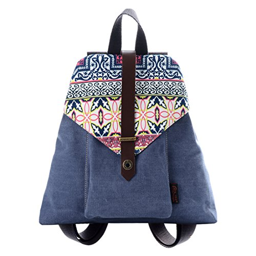 Douguyan Girl Casual Canvas Small Backpack Purse Ladies Daypack ...