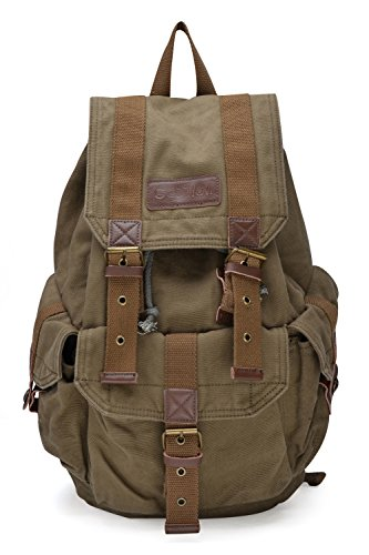 Gootium 21101AMG-S Specially High Density Thick Canvas Backpack Rucksack 852c5eb8c6b55