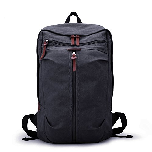 4c0b29458a Muzee Vintage Canvas Backpack School Bag Book Bag College Bag Daypack Hiking  Bag Travel Bag Camping Bag Sports Bag Gym Bag Weekend Bag Laptop Bag  Computer ...