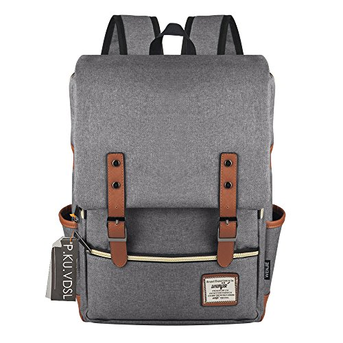 VDSL-WENJIE SERIES Vintage Canvas Laptop Backpack 59bf1ea3f4bb7