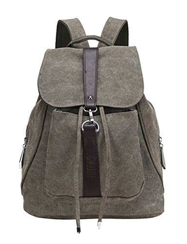 350d359ee Storeofbaby Women/Girls/Students' College School Canvas Backpack Daypack  Army Green