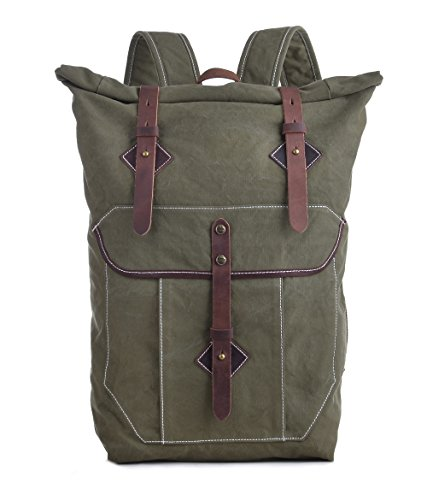 0c91d1a774 Gootium Vintage Specially Stone-washed Canvas Backpack  15-inch Laptop Bag  Rucksack