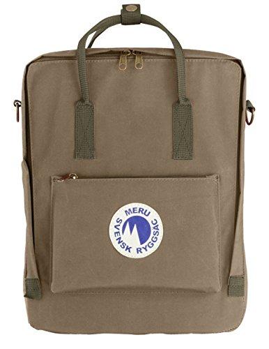44604da670 Swedish Backpack by Meru (Svensk Ryggsac) – Small Daypack Waterproof  Rucksack Carry Bag – Unisex (Sand)