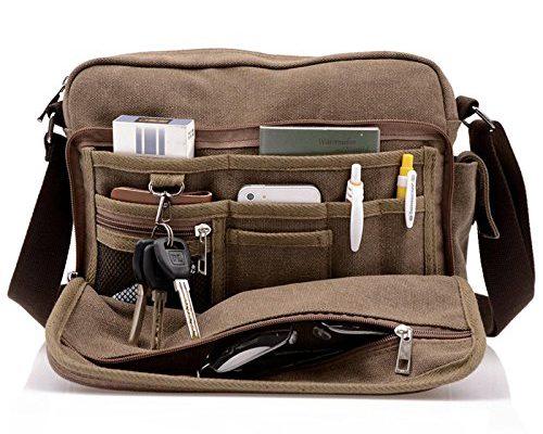 Fjallraven Kanken Laptop Canvas Leather Backpack Camping Outdoor Daypack Bag