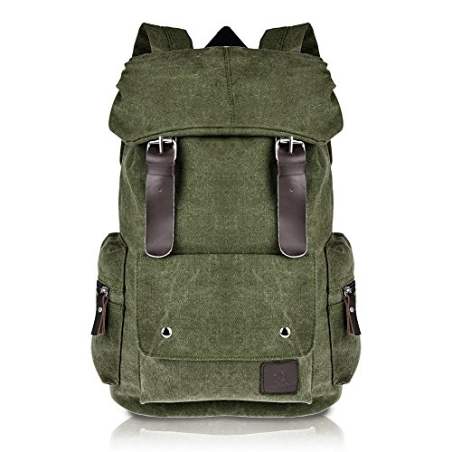 e2e65a4821d8 Vbiger Cool Canvas Casual Backpack for Women   Girls Boys Backpacks for  Middle School College Book Bags (Army Green)
