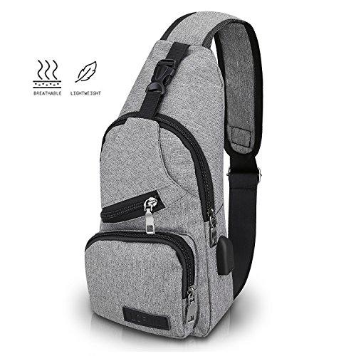 f88931266e lcfun Canvas Sling Bag Shoulder chest cross body backpack